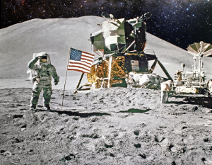 image of an astronaut on the moon
