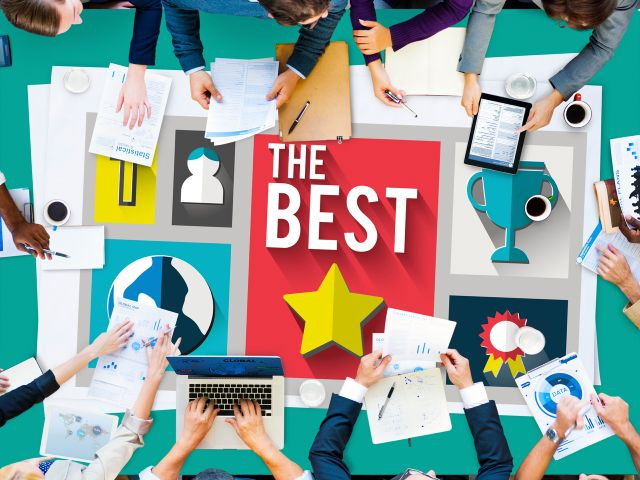 showcasing a happy work team and a best place to work