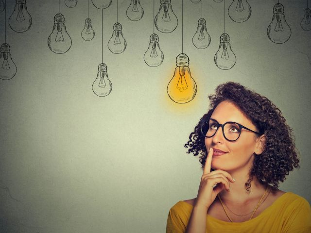 woman thinking about ideas