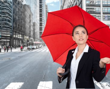 Umbrella, Women, Business.