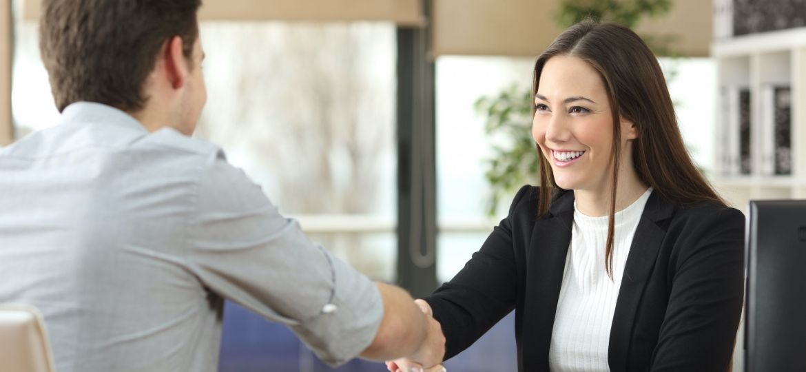 image of employee getting hired